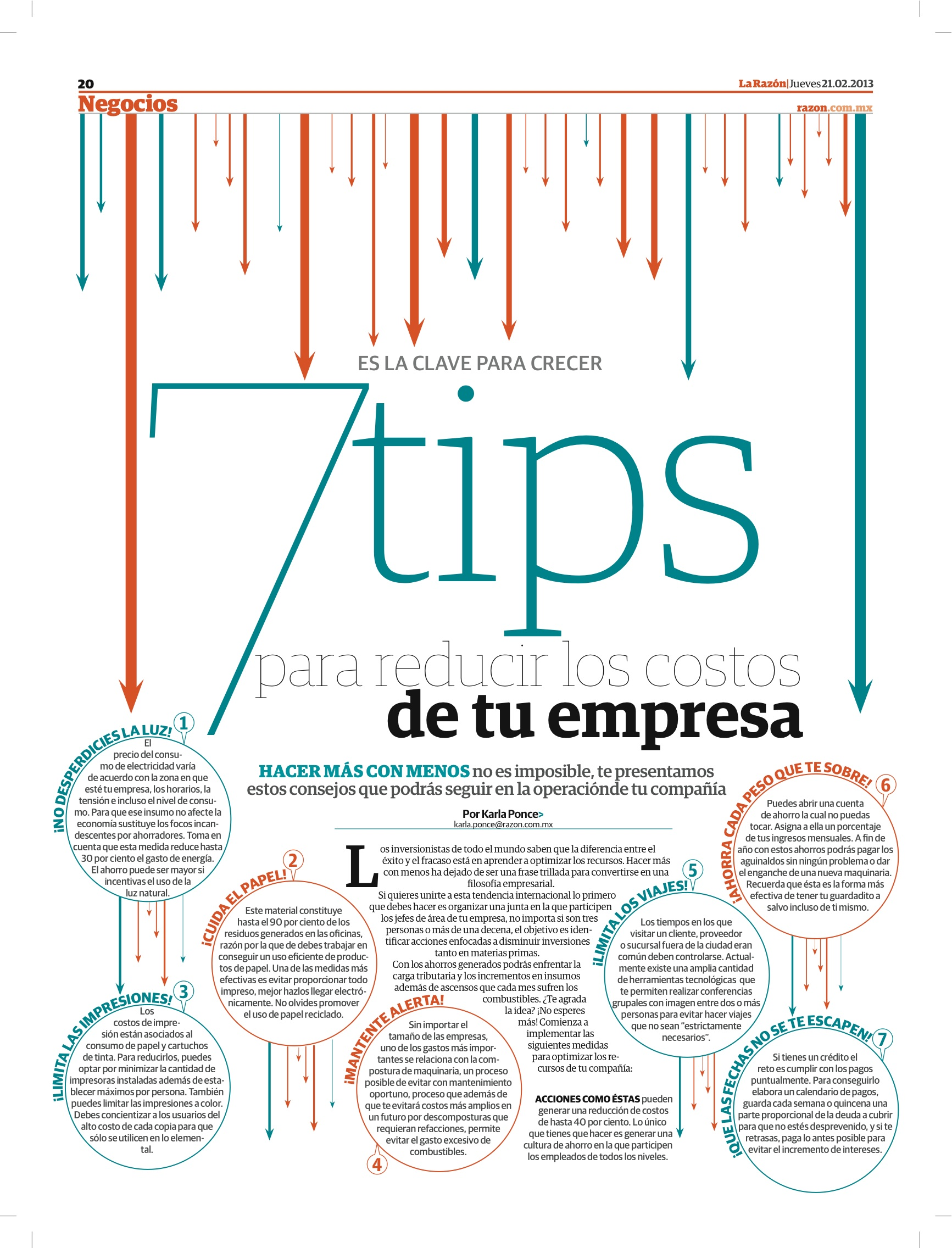 7 tips para reducir costos